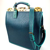 Сумки и аксессуары handmade. Livemaster - original item Buy leather handbag Ossag Emerald, leather briefcase, Office bag. Handmade.