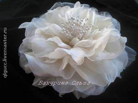 Свадебные украшения ручной работы. Ярмарка Мастеров - ручная работа. Купить Роза Мириам(цветы из шёлка). Handmade. Свадьба, свадебное украшение