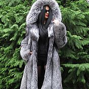Одежда handmade. Livemaster - original item LUXURIOUS FUR COAT SAGA FURS FOX FUR-COLOR PLATINUM M. Handmade.