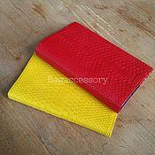 Канцелярские товары handmade. Livemaster - original item cover notepad made of genuine python leather. Handmade.