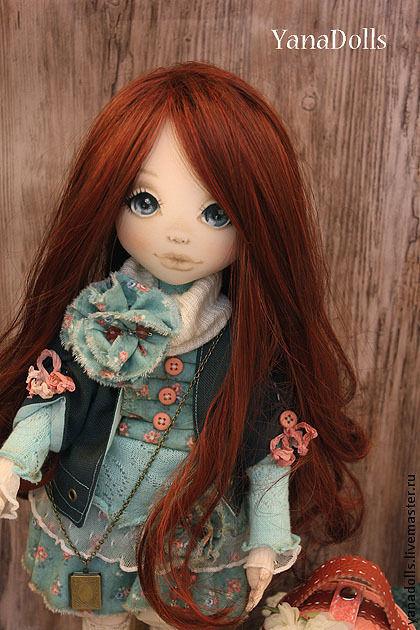 Коллекционные куклы ручной работы. Ярмарка Мастеров - ручная работа. Купить Николь. Handmade. Тёмно-бирюзовый, авторская игрушка, шерсть
