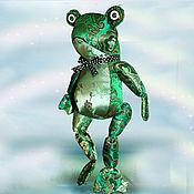 """Куклы и игрушки ручной работы. Ярмарка Мастеров - ручная работа """"Изумрудная лягушка"""". Handmade."""