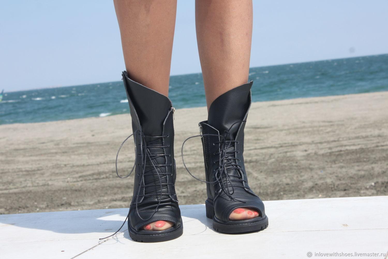 3d98b72d4 Летние сапоги ботинки на шнуровке и на платформе – купить в интернет ...