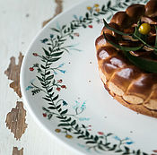 Посуда handmade. Livemaster - original item Floral and berry wreath. Great dish handmade pottery.. Handmade.