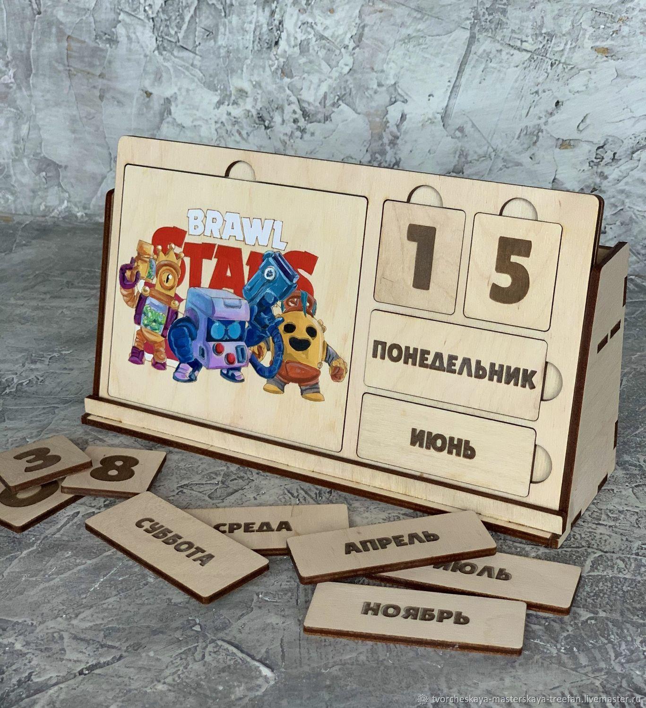 "Вечный календарь «Brawl Stars"", Доски для заметок, Дмитров,  Фото №1"