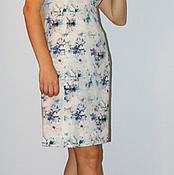 """Одежда ручной работы. Ярмарка Мастеров - ручная работа Платье летнее """"Голубые лилии"""". Handmade."""