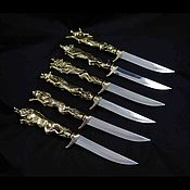 Сувениры и подарки handmade. Livemaster - original item Knife camping animals. Handmade.