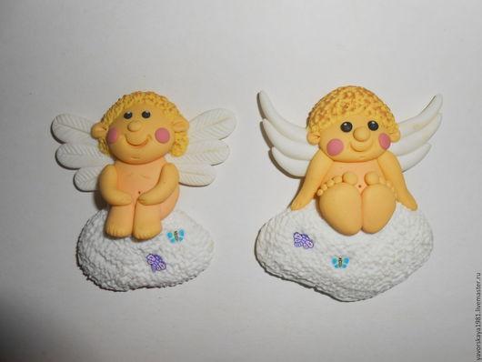 Магниты ручной работы. Ярмарка Мастеров - ручная работа. Купить Ангелочки. Handmade. Комбинированный, магнитик на холодильник, полимерная глина