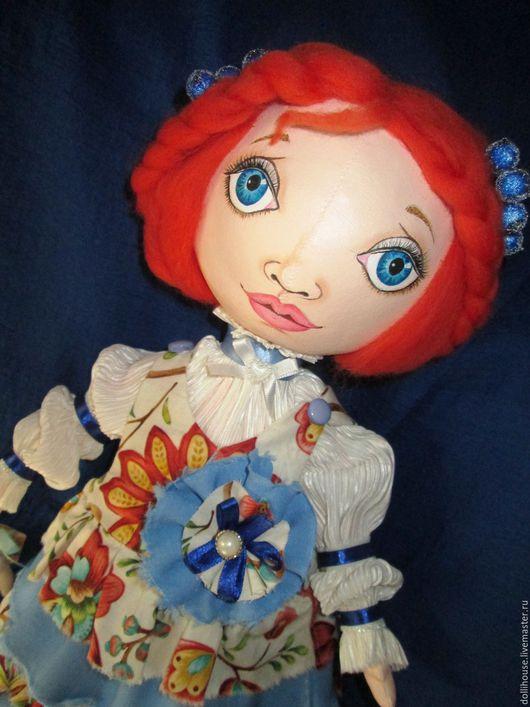Куклы тыквоголовки ручной работы. Ярмарка Мастеров - ручная работа. Купить Настенька. Handmade. Рыжий, кукла ручной работы, холлофайбер