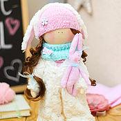 """Куклы и игрушки ручной работы. Ярмарка Мастеров - ручная работа В НАЛИЧИИ - Интерьерная текстильная кукла """"Девочка в костюме кролика"""". Handmade."""