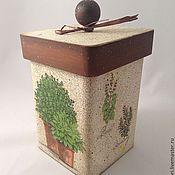 """Для дома и интерьера ручной работы. Ярмарка Мастеров - ручная работа Короб """"Травы"""". Handmade."""