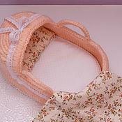 Куклы и игрушки handmade. Livemaster - original item Knitted cradle - carrying. Handmade.