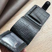 Сумки и аксессуары handmade. Livemaster - original item Genuine leather trifold wallet. Handmade.