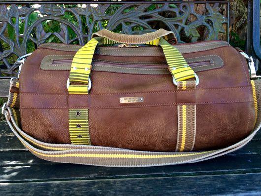 """Спортивные сумки ручной работы. Ярмарка Мастеров - ручная работа. Купить Кожаная сумка- батон """" Afrika-sport"""".. Handmade."""