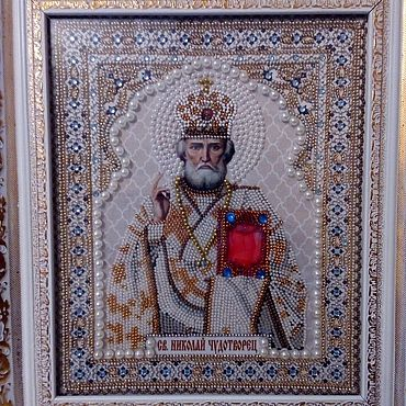 Pictures and panels handmade. Livemaster - original item The Icon Of Nicholas The Wonderworker. Handmade.