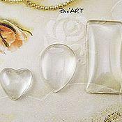 Материалы для творчества handmade. Livemaster - original item The glass heart cabochons, drop, rectangle. Handmade.