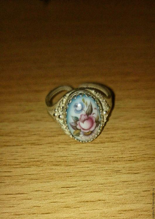 Кольца ручной работы. Ярмарка Мастеров - ручная работа. Купить кольцо с финифтью 3. Handmade. Комбинированный, кольцо с финифтью, Бижутерия