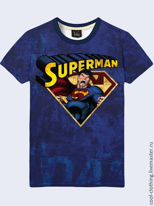 """Футболки, майки ручной работы. Ярмарка Мастеров - ручная работа. Купить Мужская футболка """"Супермен"""". Handmade. Рисунок, футболка"""