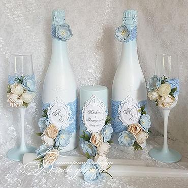 Свадебный салон ручной работы. Ярмарка Мастеров - ручная работа Свадьба в голубом цвете набор аксессуаров. Handmade.