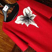Одежда ручной работы. Ярмарка Мастеров - ручная работа Дизайнерское красное платье валяное. Handmade.
