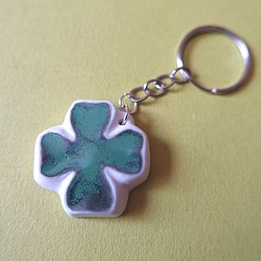 Accessories handmade. Livemaster - original item Four Leaf Clover keychain, key Chain, key Chains. Handmade.