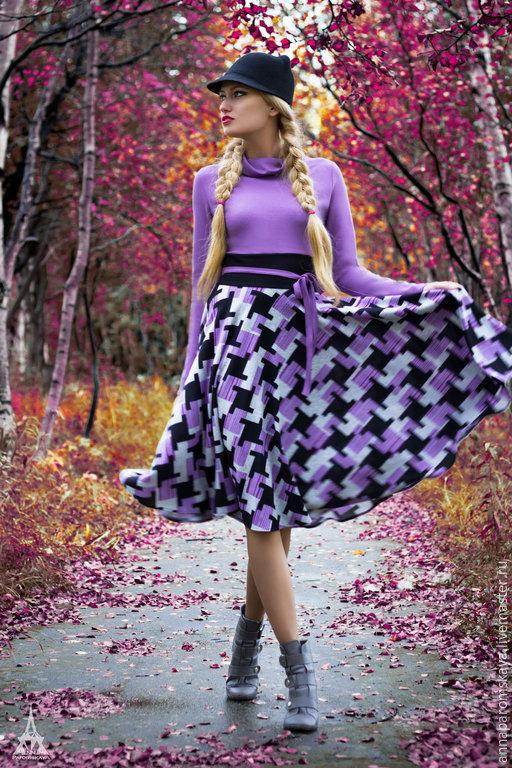 Платья ручной работы. Ярмарка Мастеров - ручная работа. Купить Платье из джерси. Handmade. Разноцветный, платье в офис, красивое платье