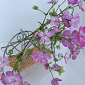 Цветы и флористика ручной работы. Ярмарка Мастеров - ручная работа Букет лесной герани из холодного фарфора. Handmade.