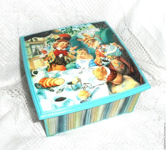Кухня ручной работы. Ярмарка Мастеров - ручная работа. Купить Чайная шкатулка Безумное чаепитие. Handmade. Чайная шкатулка