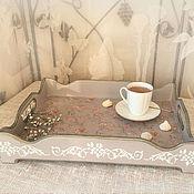 Для дома и интерьера ручной работы. Ярмарка Мастеров - ручная работа поднос сервировочный Сиреневый. Handmade.