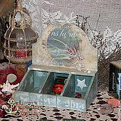 Для дома и интерьера ручной работы. Ярмарка Мастеров - ручная работа Чайный короб Морской. Handmade.