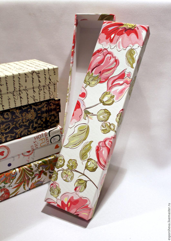 ручной работы. Ярмарка Мастеров - ручная работа. Купить Подарочная коробка для подарка/украшений 26х6,5х4 см. Handmade. Коробка