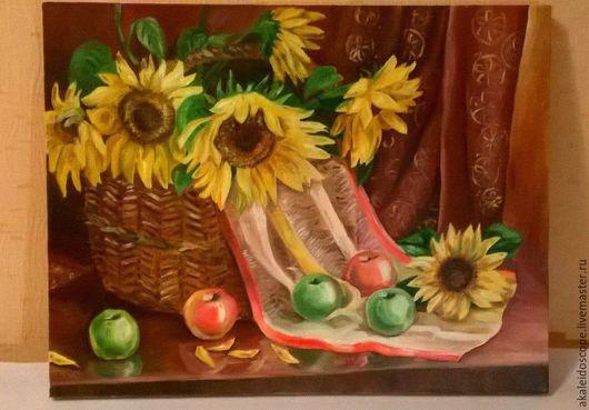 """Натюрморт ручной работы. Ярмарка Мастеров - ручная работа. Купить """"Кусочек уходящего лета"""". Handmade. Разноцветный, натюрморт с цветами"""