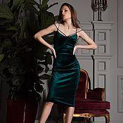 Одежда handmade. Livemaster - original item Isabel`s dress of Italian velvet with signature straps. Handmade.