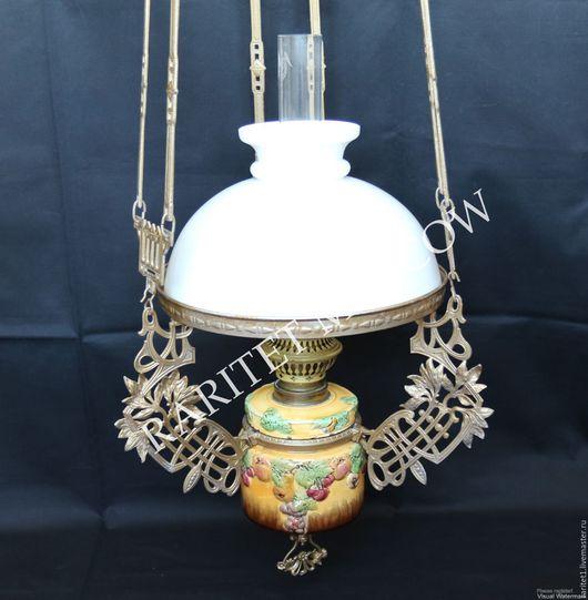 Винтажные предметы интерьера. Ярмарка Мастеров - ручная работа. Купить Лампа керосиновая подвесная люстра майолика 15. Handmade. Комбинированный