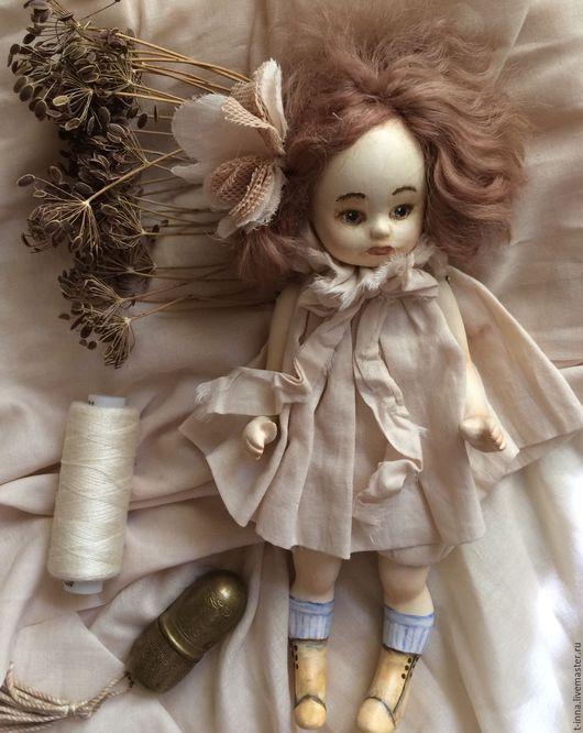 Коллекционные куклы ручной работы. Ярмарка Мастеров - ручная работа. Купить Куколка Болтушка Мотылек. Handmade. Бежевый, кукла в подарок