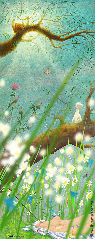 """Животные ручной работы. Ярмарка Мастеров - ручная работа. Купить """"беС Смеха""""  авторский принт.. Handmade. Авторский принт"""
