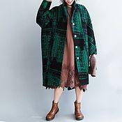Одежда ручной работы. Ярмарка Мастеров - ручная работа Шерстяное пальто большого размера, зима. Handmade.