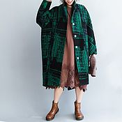 Одежда handmade. Livemaster - original item Woolen coat large size winter. Handmade.