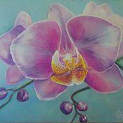 Картины и панно ручной работы. Ярмарка Мастеров - ручная работа Пастель Орхидея. Handmade.