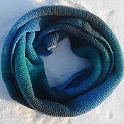 Аксессуары handmade. Livemaster - original item Snood Aqua. Handmade.