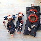Куклы и игрушки ручной работы. Ярмарка Мастеров - ручная работа Авторские куколки Бони и Боби. Handmade.