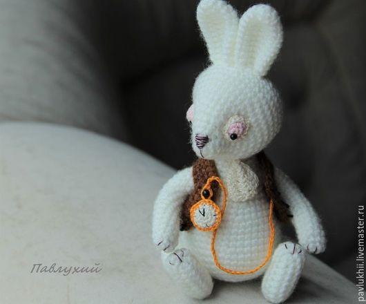 """Игрушки животные, ручной работы. Ярмарка Мастеров - ручная работа. Купить Белый Кролик из """"Алисы в стране чудес"""". Handmade. Кролик"""