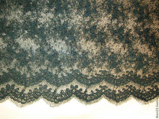 Шитье ручной работы. Ярмарка Мастеров - ручная работа. Купить гипюр на паутинке пайетки в тон ткани арт.17 СП-4(Корея). Handmade.