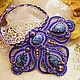 Purple soutache necklace Starry sky. Necklace. LADY-LIZA jewelry shop. Online shopping on My Livemaster.  Фото №2
