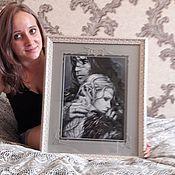 """Картины и панно ручной работы. Ярмарка Мастеров - ручная работа вышитая картина """"под защитой"""". Handmade."""