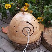 """Инструменты для вязания ручной работы. Ярмарка Мастеров - ручная работа Клубочница большая """" Завиток"""" с крышкой из дуба. Handmade."""