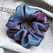 Украшения handmade. Livemaster - original item Elastic hair band made of natural silk with hand painting. Handmade.