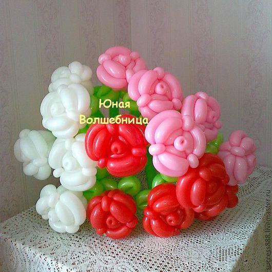 цветы из воздушных шаров, розы из воздушных шаров, ромашки из воздушных шаров, шар-сюрприз, упаковка подарка в шар, оригинальная упаковка, оригинальный подарок девушке, женщине
