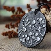 Украшения handmade. Livemaster - original item Pendant from polymer clay Dragonfly. Handmade.
