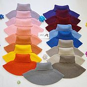 Аксессуары handmade. Livemaster - original item The bib wool blend yarn. Handmade.